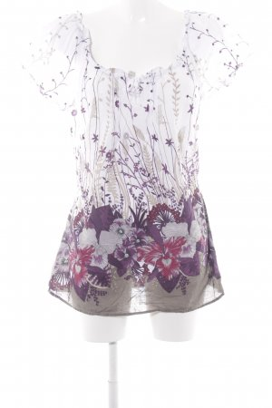 Zero Kurzarm-Bluse florales Muster Romantik-Look