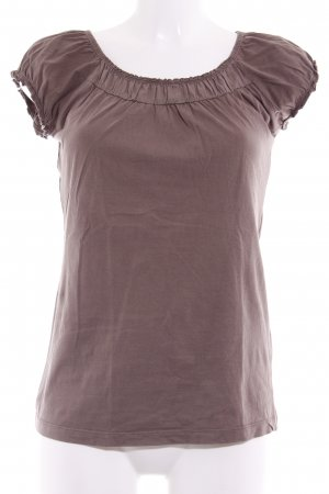 Zero Short Sleeved Blouse grey brown simple style