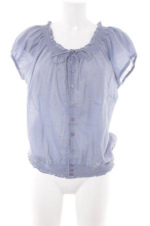 Zero Kurzarm-Bluse himmelblau Casual-Look