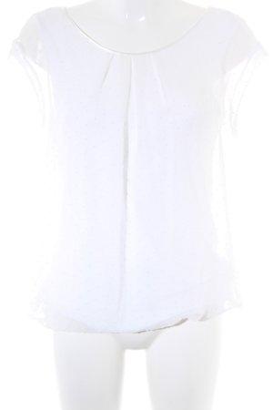Zero Kurzarm-Bluse weiß Elegant