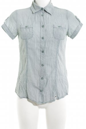 Zero Short Sleeve Shirt light grey striped pattern casual look