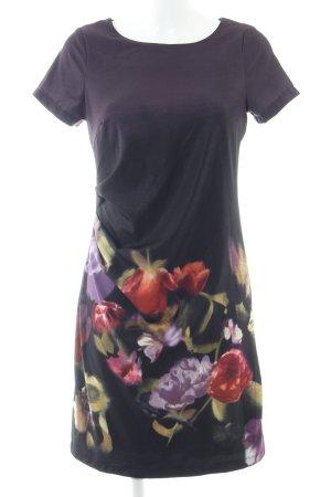Zero Kurzarmkleid schwarz Blumenmuster Business-Look
