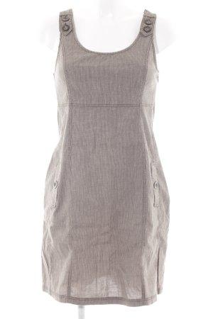 Zero Kurzarmkleid creme-graubraun Hahnentrittmuster Brit-Look