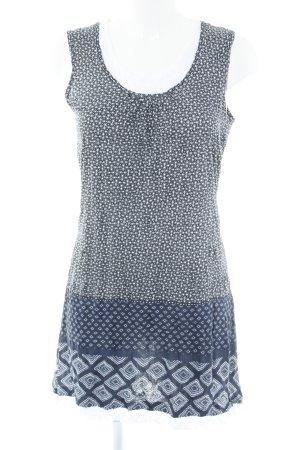 Zero Kurzarmkleid dunkelblau-weiß abstraktes Muster Casual-Look