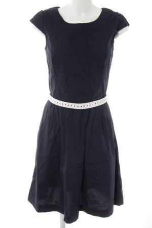 Zero Kurzarmkleid dunkelblau-weiß Elegant