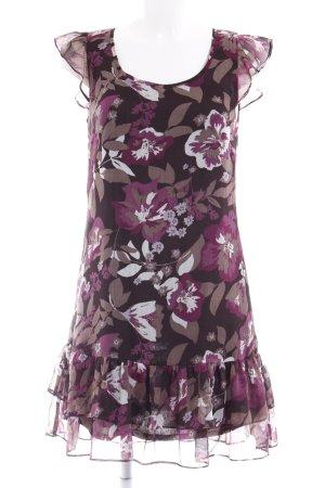 Zero Kurzarmkleid florales Muster Romantik-Look