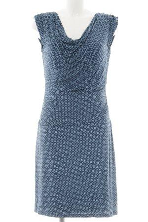 Zero Kurzarmkleid hellblau-dunkelblau abstraktes Muster Casual-Look