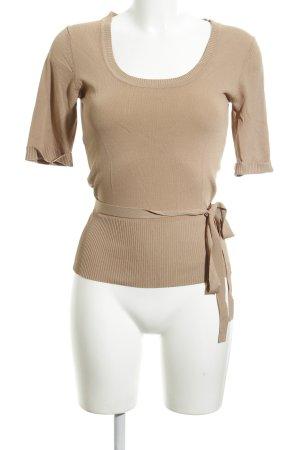 Zero Sweater met korte mouwen bruin zakelijke stijl