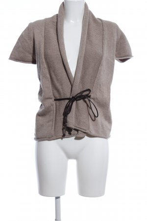 Zero Short Sleeve Knitted Jacket brown flecked casual look
