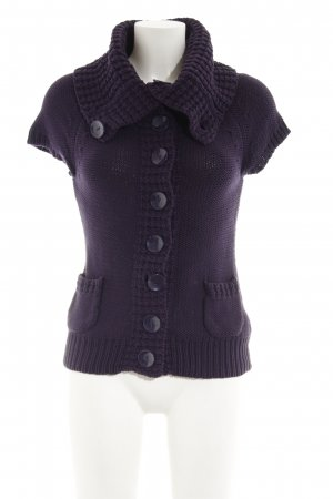 Zero Short Sleeve Knitted Jacket blackberry-red
