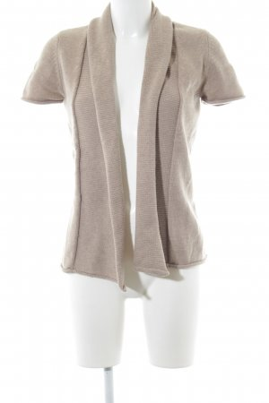 Zero Short Sleeve Knitted Jacket camel casual look