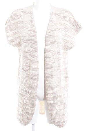 Zero Cárdigan de manga corta crema-beige Patrón de tejido look casual
