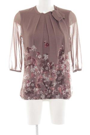 Zero Langarm-Bluse pink Blumenmuster Elegant