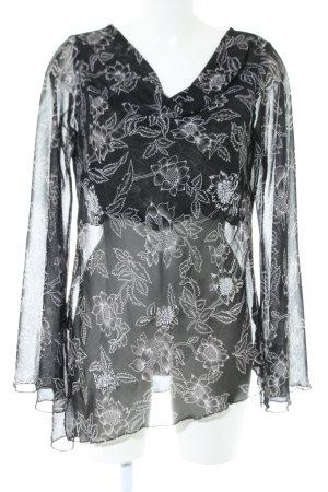Zero Langarm-Bluse schwarz-weiß Elegant