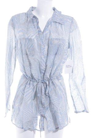 Zero Langarm-Bluse abstraktes Muster Boho-Look