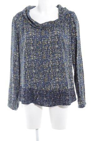 Zero Langarm-Bluse abstraktes Muster extravaganter Stil