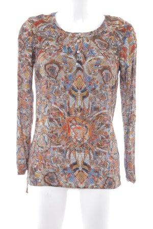 Zero Langarm-Bluse abstraktes Muster Gypsy-Look