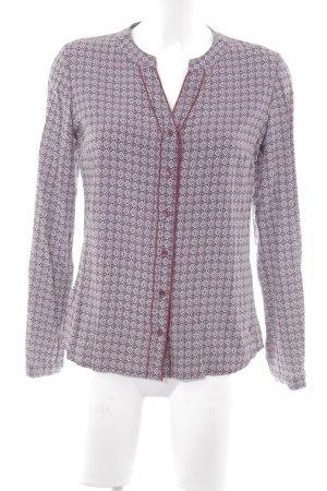 Zero Langarm-Bluse abstraktes Muster schlichter Stil