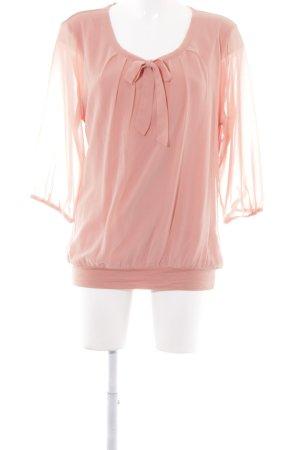 Zero Langarm-Bluse apricot Casual-Look