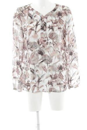 Zero Langarm-Bluse Blumenmuster klassischer Stil