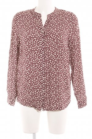 Zero Langarm-Bluse bordeauxrot-creme florales Muster Casual-Look
