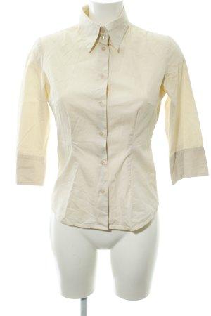 Zero Langarm-Bluse creme schlichter Stil