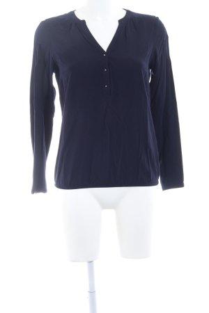 Zero Langarm-Bluse dunkelblau Elegant