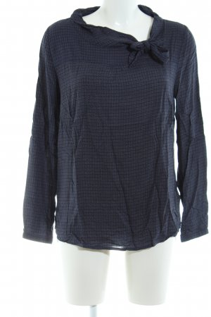 Zero Langarm-Bluse blau abstraktes Muster Casual-Look