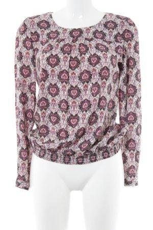 Zero Langarm-Bluse florales Muster Casual-Look