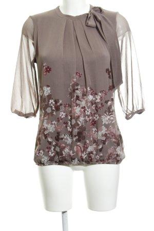 Zero Langarm-Bluse florales Muster Romantik-Look