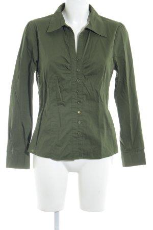 Zero Langarm-Bluse grasgrün klassischer Stil