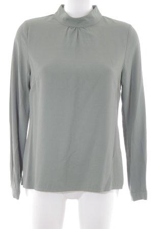 Zero Langarm-Bluse graugrün Elegant