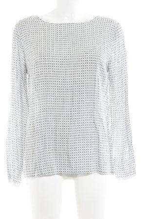 Zero Langarm-Bluse hellgrau-weiß abstraktes Muster Casual-Look