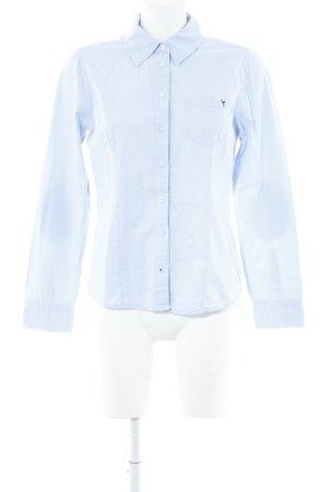 Zero Langarm-Bluse himmelblau-graubraun Business-Look