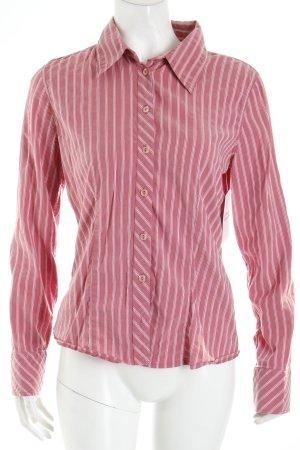 Zero Langarm-Bluse magenta-weiß Streifenmuster Casual-Look