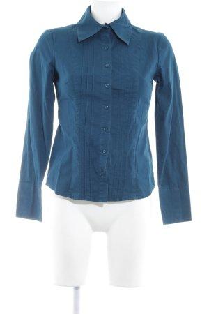 Zero Langarm-Bluse petrol klassischer Stil