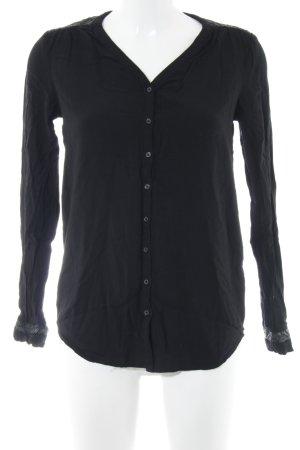 Zero Langarm-Bluse schwarz Elegant