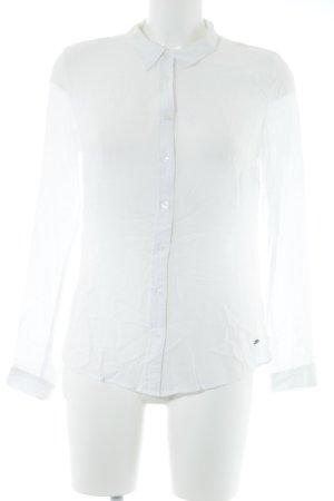 Zero Langarm-Bluse weiß Elegant