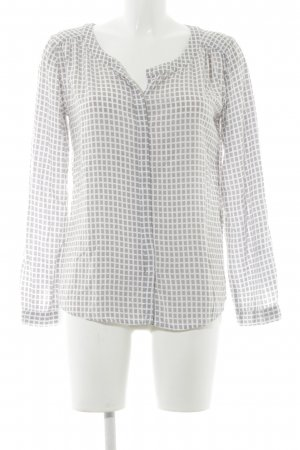 Zero Langarm-Bluse weiß-graubraun Casual-Look
