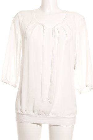Zero Langarm-Bluse weiß klassischer Stil