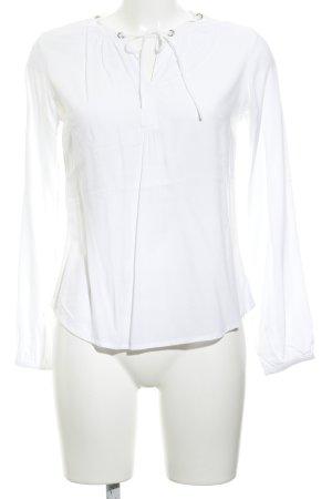 Zero Langarm-Bluse weiß schlichter Stil