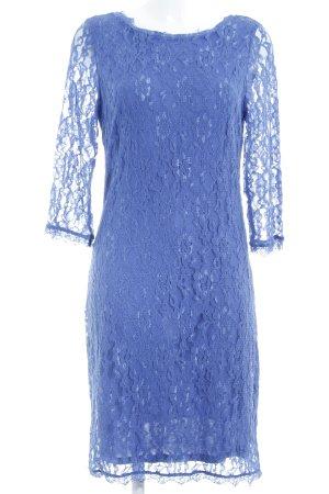 Zero Longsleeve Dress blue flower pattern casual look