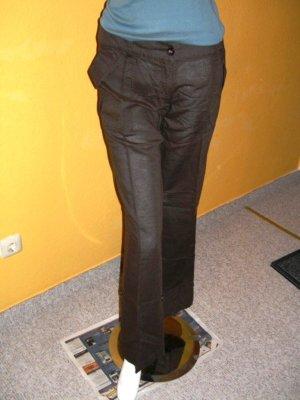 Zero Leinenhose in Braun, auch kurzer umkrembar, Gr. 38 Reg