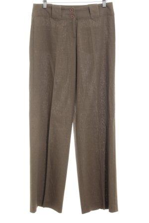 Zero Pantalone di lino ocra stile casual