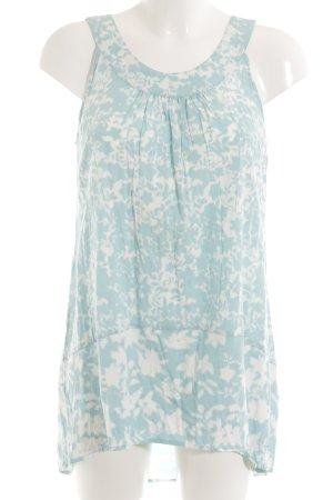 Zero Long-Bluse babyblau-weiß abstraktes Muster Casual-Look