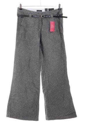 Zero Pantalon Marlene gris clair moucheté style décontracté