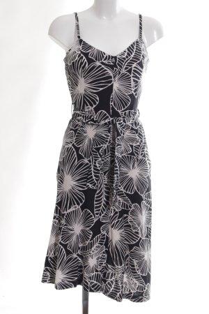 Zero Midikleid schwarz-weiß Blumenmuster Casual-Look