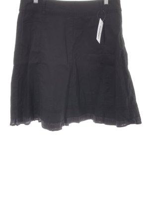 Zero Falda midi negro Patrón de tejido estilo sencillo