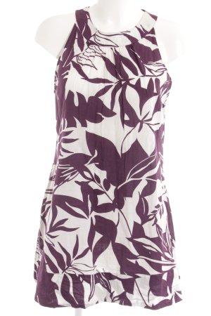 Zero Minikleid purpur-weiß abstraktes Muster Casual-Look