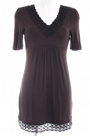 Zero Minikleid schwarzbraun-schwarz Elegant